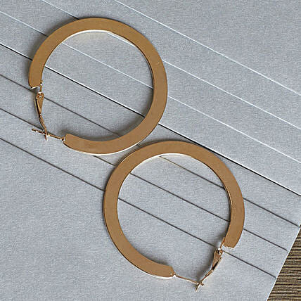 Stylish Flat Hoop Earrings Online