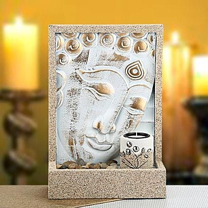 Classic Home Decor-Hanging Buddha with candle and stone 11.5 hight and 8 inches width
