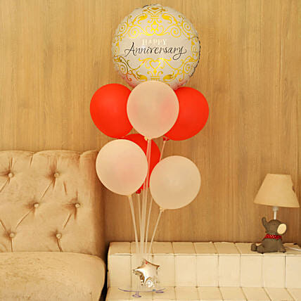 Anniversary Foil Balloon Bouquet:Balloons Decorations
