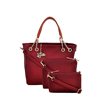 3 set of stylish red handbag
