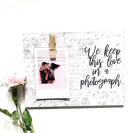 Photo Clip Frame For Love:Wall-Clocks