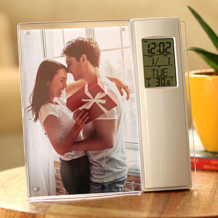 personalised clock photo frame:Personalised Gadgets