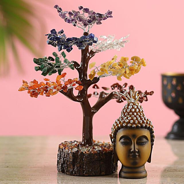 Cloudy Seven Chakra Wish Tree