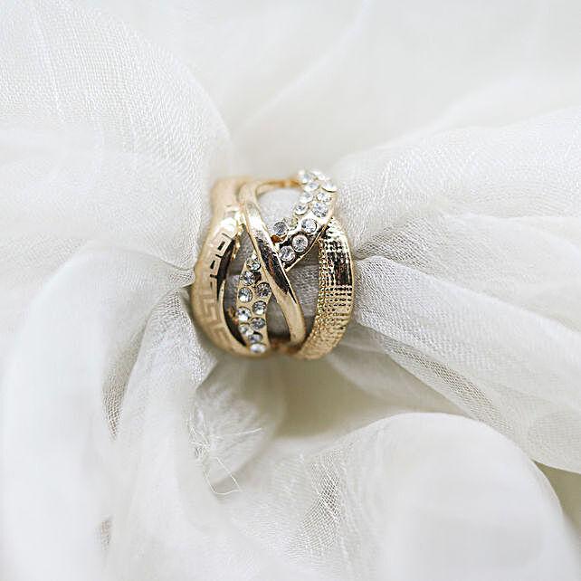 Online Stone Golden Ring