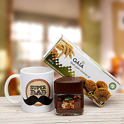 Coffee and Cookies Treat-200 grams delectable cookies,50 gram small jar Bru Coffee,coffee mug