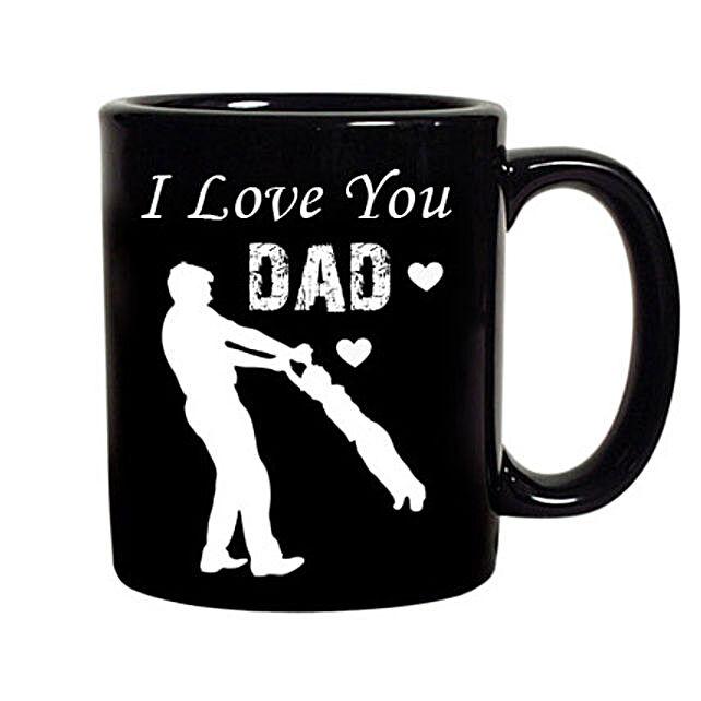 Printed Black Color Coffee Mug for Dad