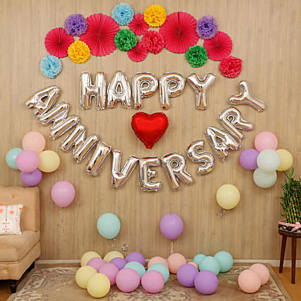 Balloon decoration for anniversary online:Gifts for 25Th Anniversary