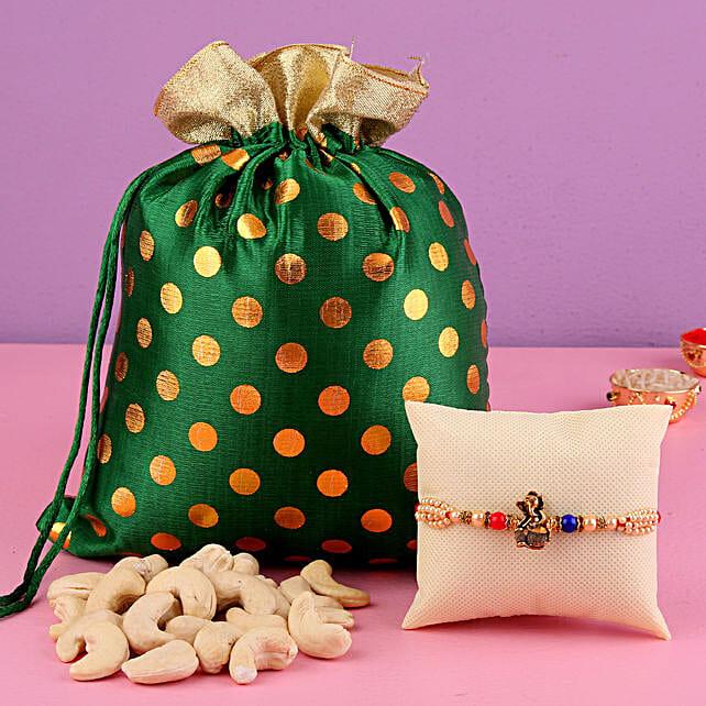 Colourful Ganesha Rakhi & Cashews