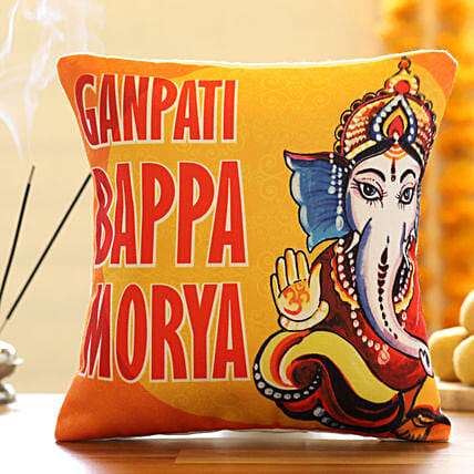 Printed Cushion for Ganesh Chaturthi:Ganesh Chaturthi Gifts