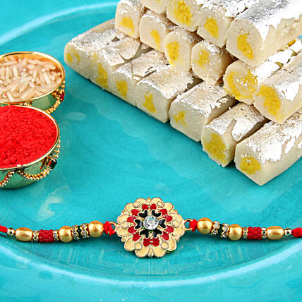 Colourful Meenakari Rakhi Combo