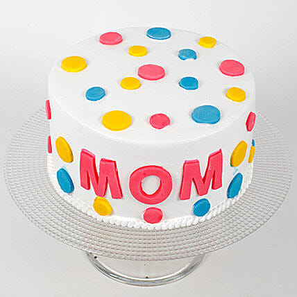 Colourful Mothers Day Butterscotch Cake Half Kg Eggless
