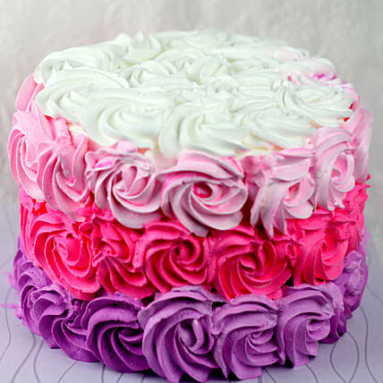 OnlineColourful Roses Chocolate Cream Cake