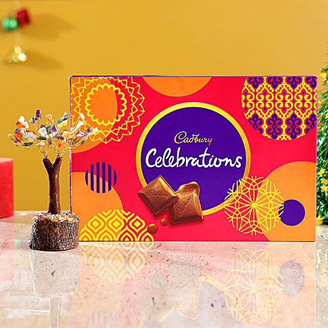 Colourful Stone Wish Tree & Cadbury Celebrations