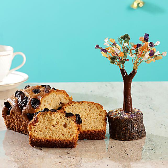 Colourful Stone Wish Tree Dry Fruit Cake