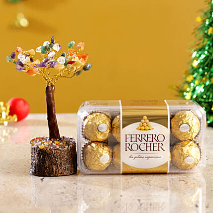 Colourful Stone Wish Tree & Ferrero Rocher Box