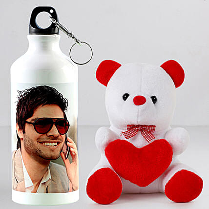 Combo of Personalised Bottle n Teddy