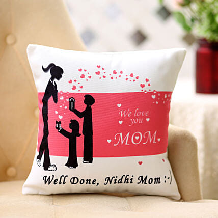Comforting Personalised-12x12 Cushion For Mom:Personalised Cushions Lucknow