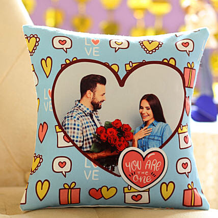 Comfy Personalised Cushion:Valentines Day Cushions