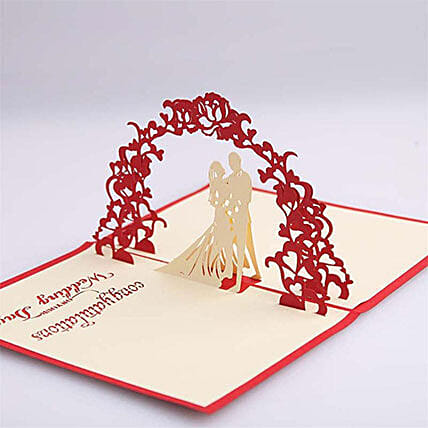 pop up card for happy wedding