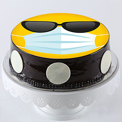 Cool Smiley Quarantine Cake Online