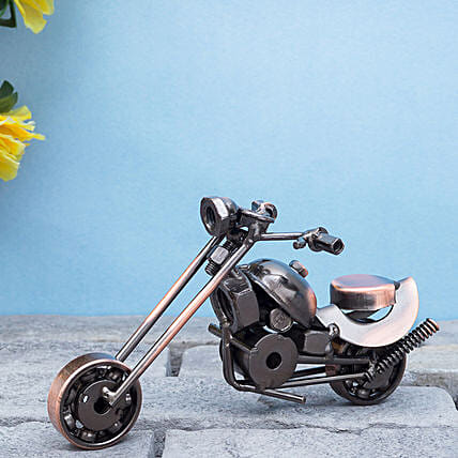 Copper Toned Exquisite Metal Motor Bike Showpiece