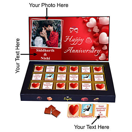 Send Couple Anniversary Personalised Chocolate