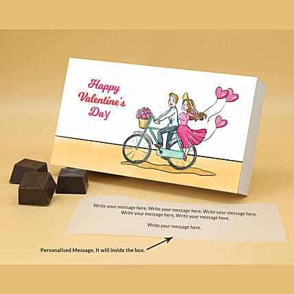 Online Couple Love Personalised Almond Chocolates