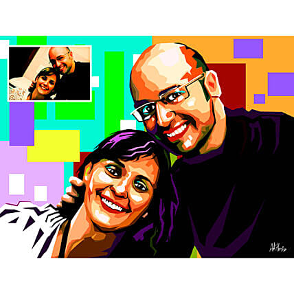Buy Personalised Couple painting online
