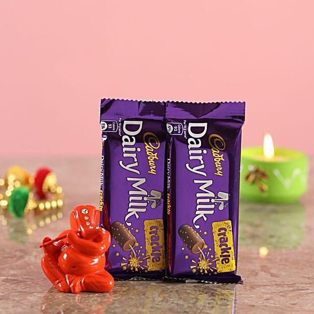 Crackle Chocolates Orange Ganesha Idol