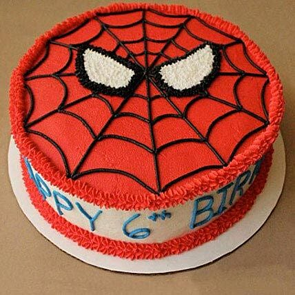 Spiderman Mask Birthday Cake Half kg:Spiderman Cakes