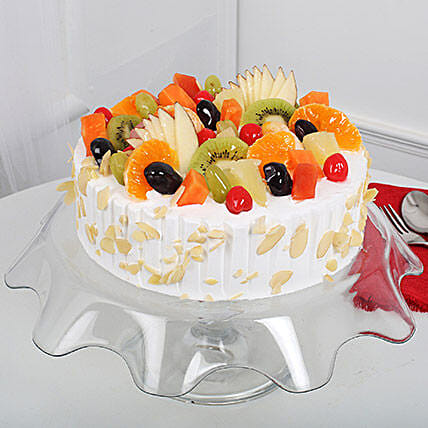 Effervescent Fruit Cake Eggless:Send Birthday Cakes to Aurangabad
