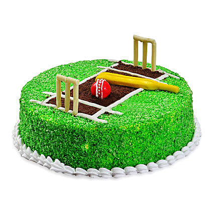 Cricket Pitch Cake 1kg:Designer Birthday Cakes to Kolkata