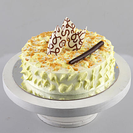 Delicious curnchy butterscotch cake online:Buy Eggless Cakes