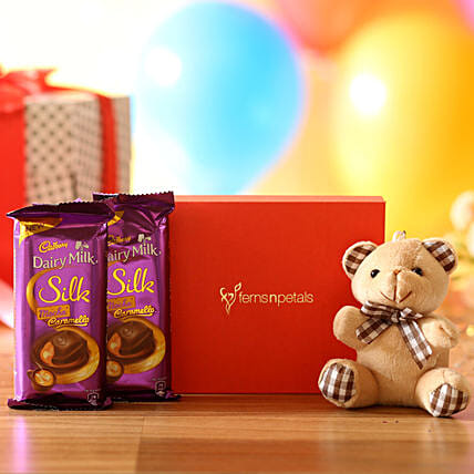 cute teddy bear with chocolate online