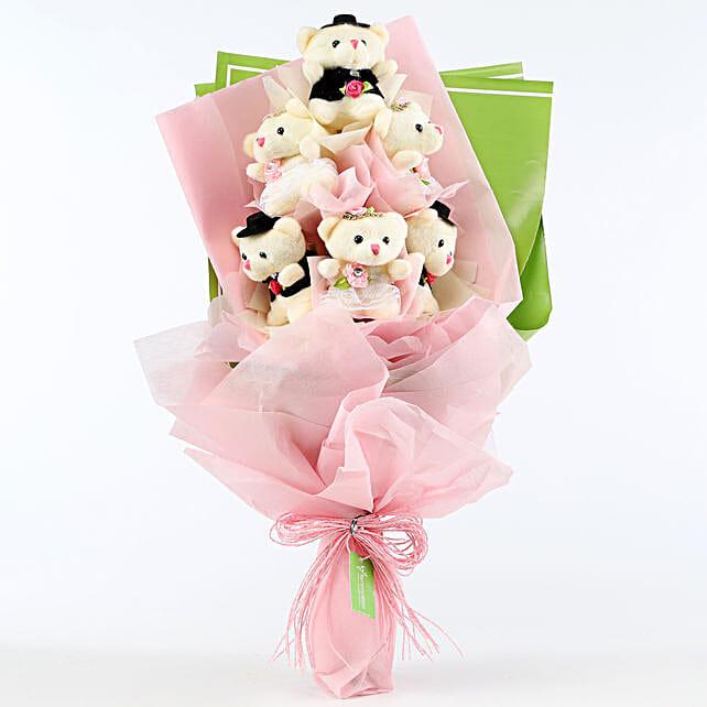 Soft Toy Keychain Bouquet Online