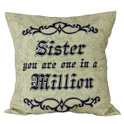Cushion For Sister-12X12 inches Cushion,quote Sister you are one in a million