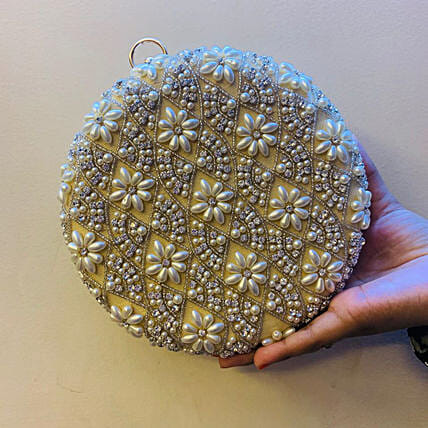 Customised Beige Clutch