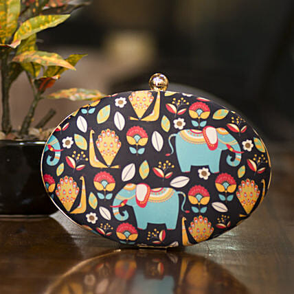 Customised Crepe Clutch Bag 8 X 5 cms:Clutches