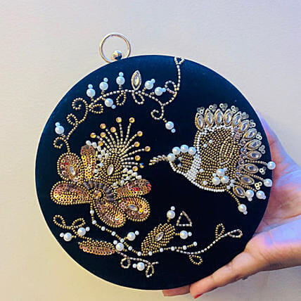 Customised Lovely Embroidery Clutch Bag