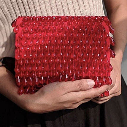 Customised Red Clutch Bag 10 X 7 cms