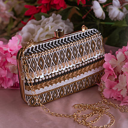 Customised Silk Clutch Bag:Marriage Gifts