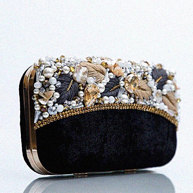 Customized Black Clutch Bag