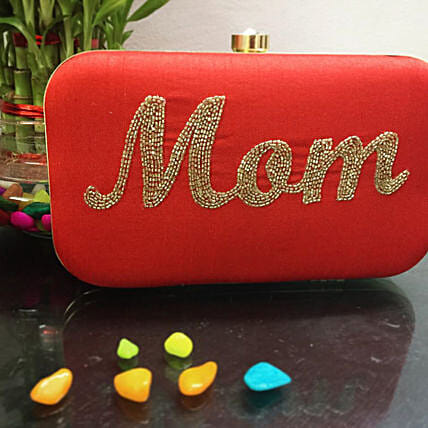 Customized Red Clutch Bag