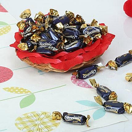 Chocolate Candy Basket:Diwali Gift Basket Ideas