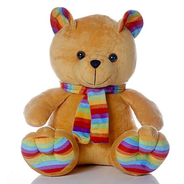 Cute & Cuddly Brown Muffler Teddy Bear:New Arrival Gifts