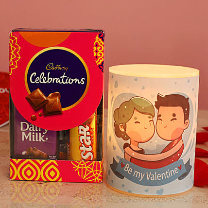 Cute Graphic Print Hollow Candle Cadbury Celebrations Pack