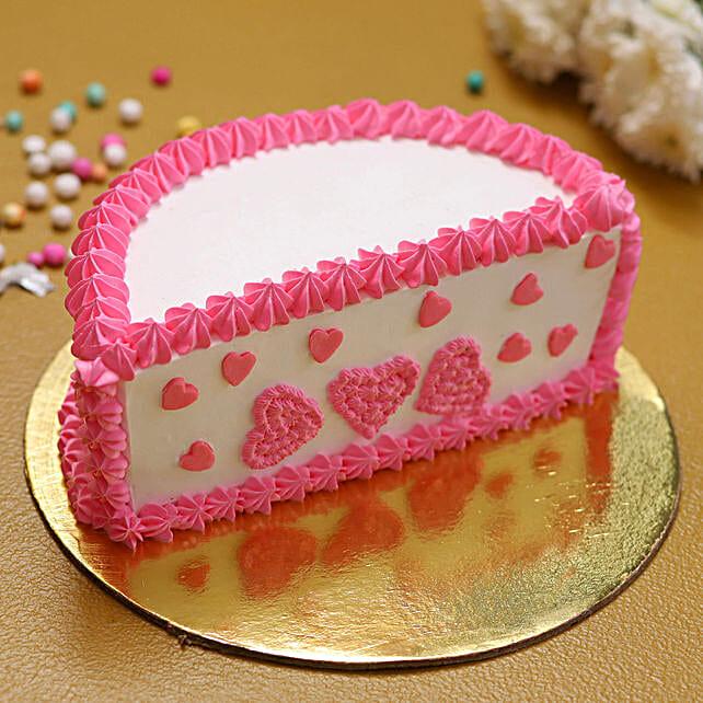 cute heart cake online:Half Cakes