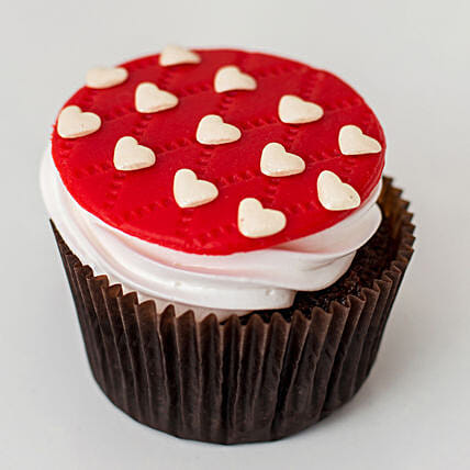 Cute Little Hearts Cup Cake