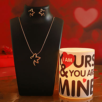 Cute Love Quote Hollow Candle Pretty Necklace Set