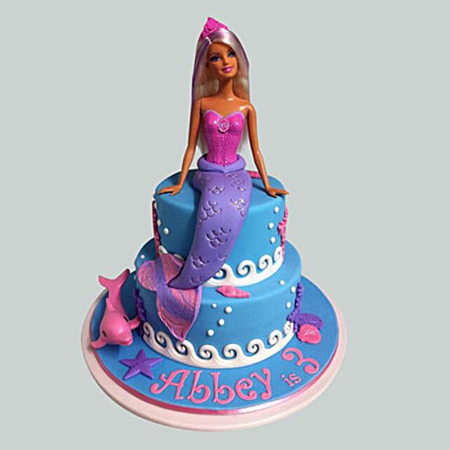 Elsa Mermaid Barbie Cake 2kg